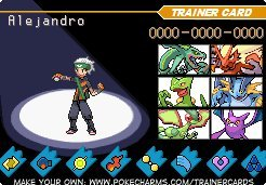 My trainer card
