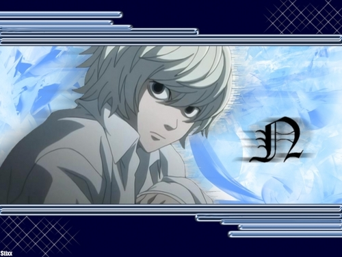 Death Note achtergrond possibly with anime titled Near