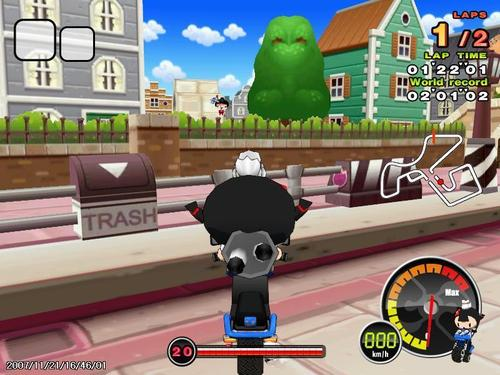 Pucca is racing