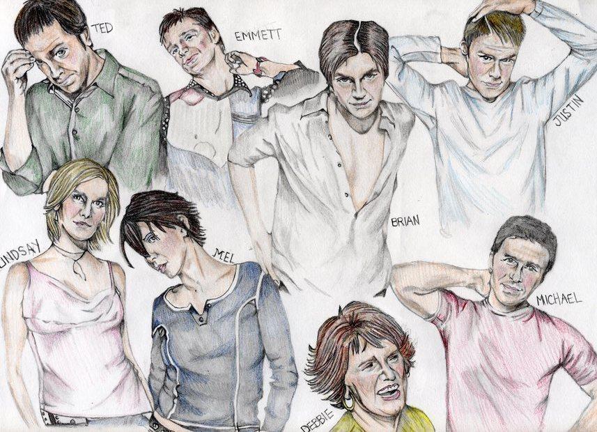 Близкие друзья рисунок