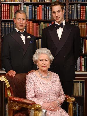 কুইন Elizabeth II and Heirs to the Throne, Prince Phillip and Prince William