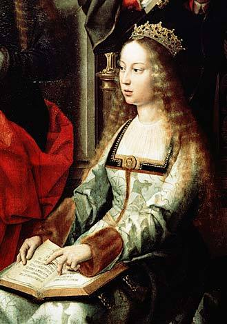 rois et reines fond d'écran possibly with a surcoat, surcot called Queen Isabella I of Spain