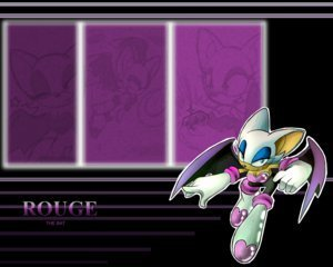ROUGE THE BAT wallpaper probably containing a bouquet called RB