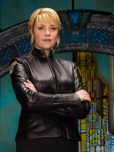 Samantha Carter achtergrond with a hip boot, a well dressed person, and a business suit titled Sam Carter