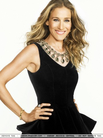 Sarah Jessica Parker achtergrond with a cocktail dress and a bustier entitled Sarah Jessica Parker