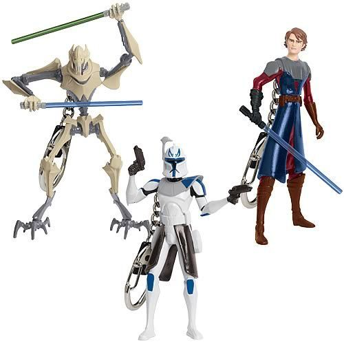 звезда Wars Clone Wars Series 1 Keychain Set