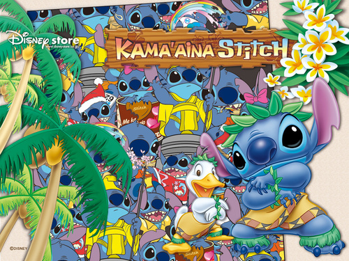 Lilo & Stitch wallpaper possibly with a stained glass window and anime titled Stitch Wallpaper