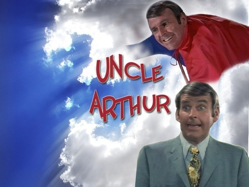 Uncle Arthur w'paper