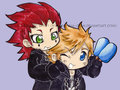 axel and roxas - kingdom-hearts photo