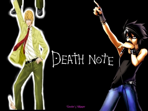 death note wallpaper titled disco dancing