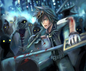 haloween sora and heartless