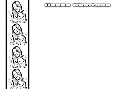 Hannah Montana wallpaper entitled hanna sketches