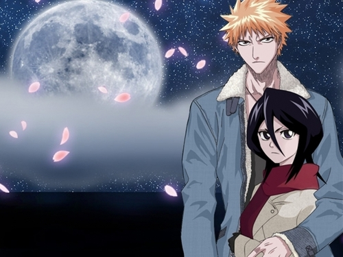 Bleach ichigo and rukia wallpaper titled ichiruki 4ever