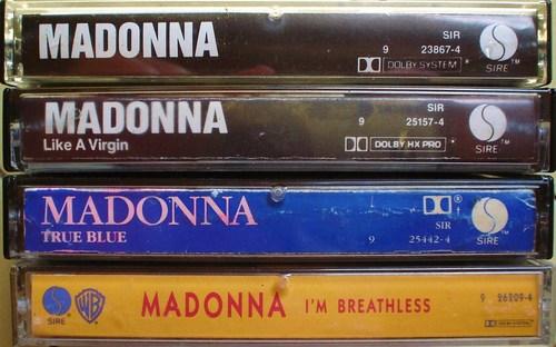 Madonna cassette tapes