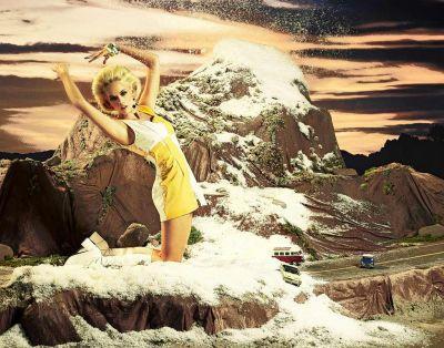 natural disaster photoshoot