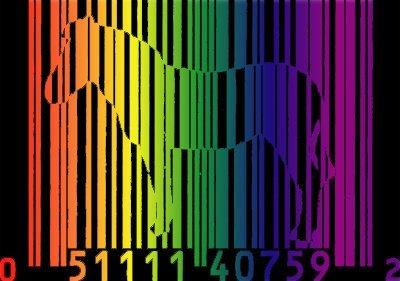 rainbow barcode zebra