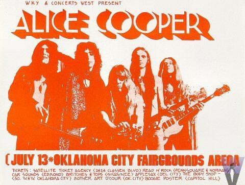 1971 concert handbill