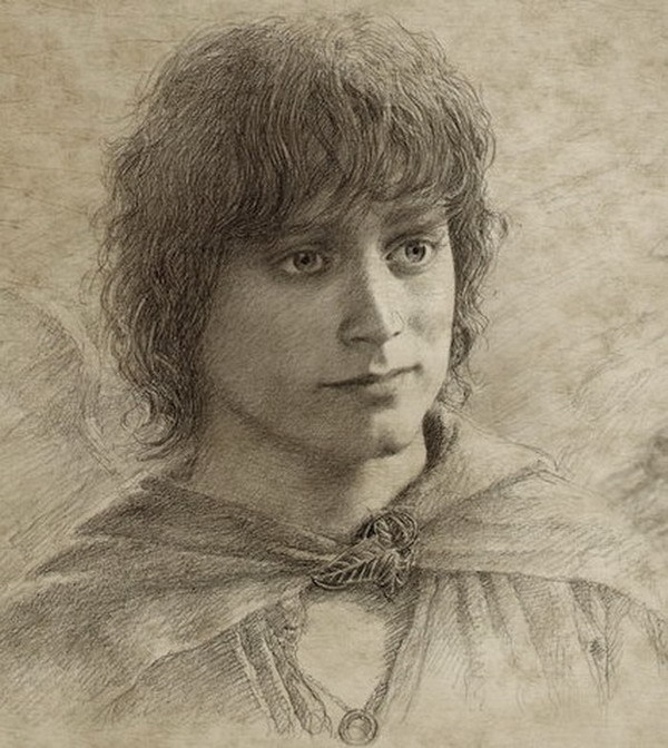 Alan Lee drawing from return of the king