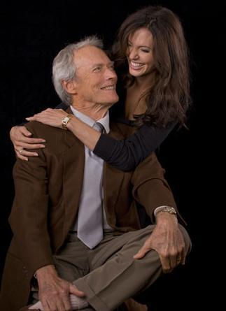 Angelina and Clint Eastwood Photoshoot