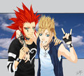 Axel and Demyx - demyx fan art