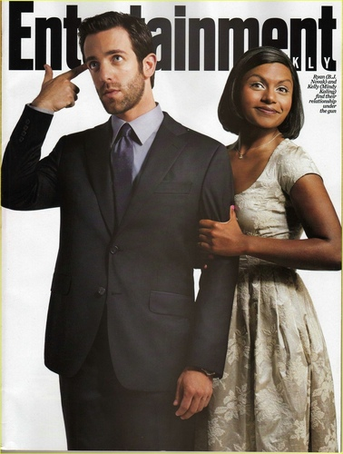 BJ and Mindy on Entertainment Weekly Cover