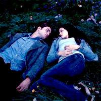 Bella & Edward in the meadow