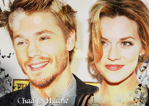 Chad and Hilarie wallpaper containing a business suit and a portrait called C+H
