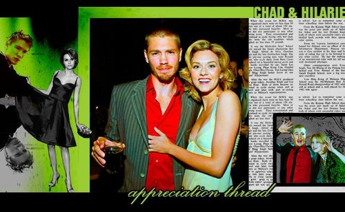 Chad and Hilarie wallpaper with a business suit called C+H