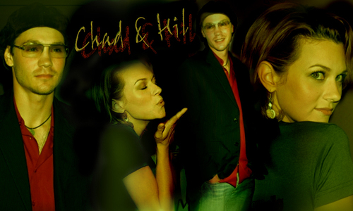 Chad and Hilarie wallpaper probably containing a sign entitled C+H