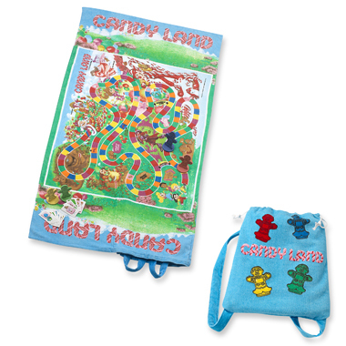 Candy Land plage Towel and Backpack