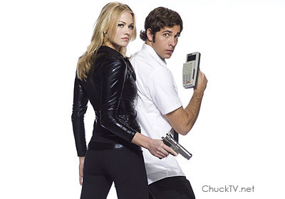 Yvonne Strahovski Hintergrund with a well dressed person entitled Chuck S2 Promo