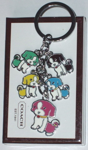Cute Coach Dog Keychain