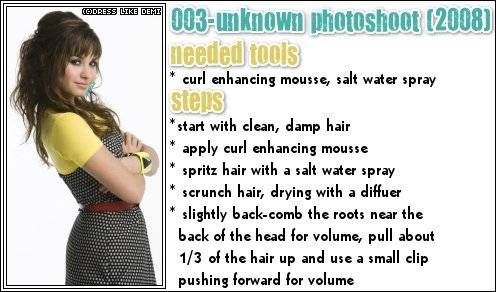 Demi Hair Style how-to