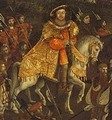 Detail of Henry VIII from The FIeld of Cloth of Gold Painting
