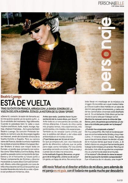 Elle Magazine October '08