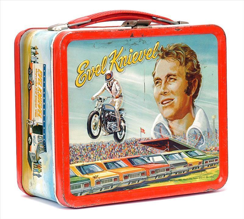 Evel Knievel Vintage 1974 Lunch Box