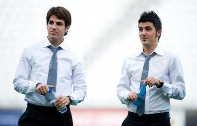 Fabregas and villa