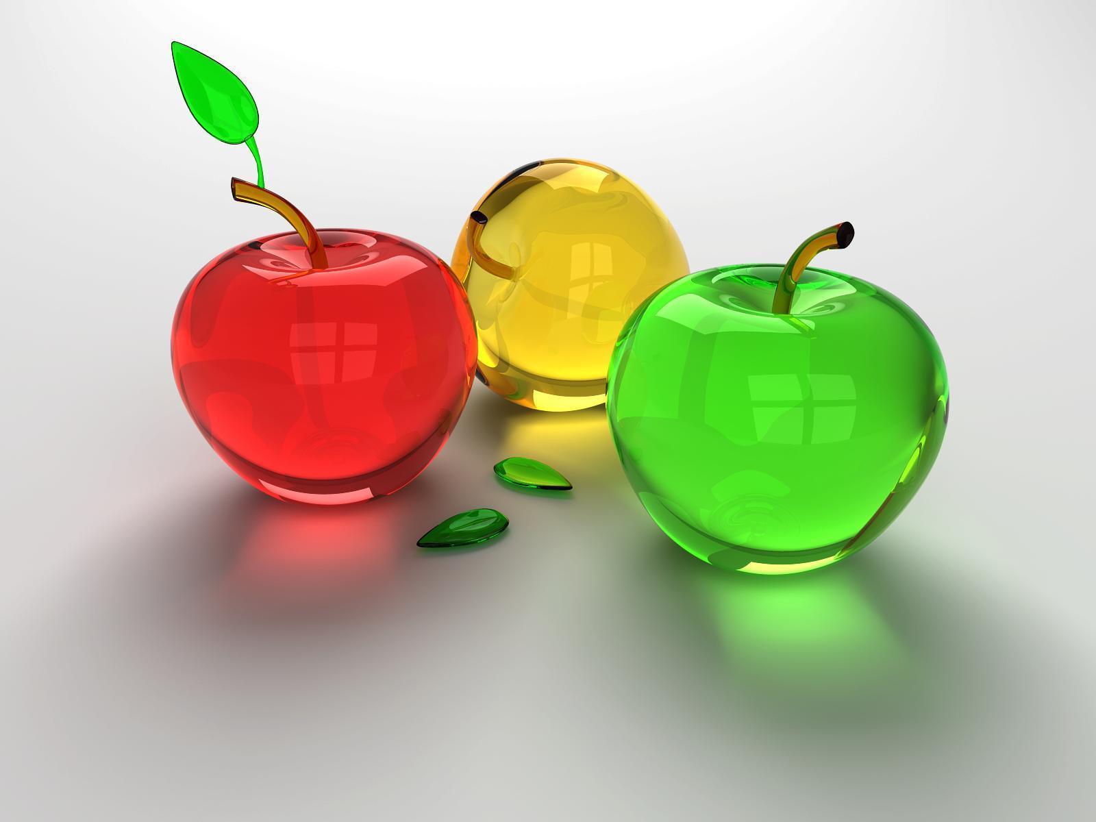 Glass Apples Wallpaper - fruit wallpaper