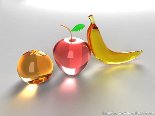 Glass Fruit Wallpaper