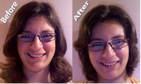 Haircut before/after!