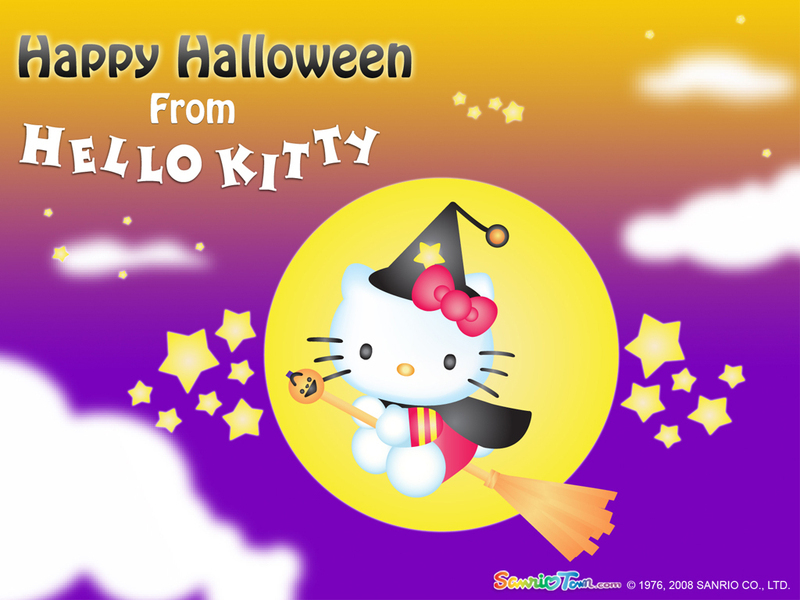 hello kitty pink wallpaper. Halloween Wallpaper - Hello