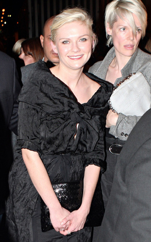 Kirsten attends Miu Miu fashion show