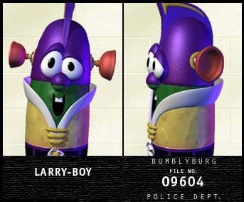 LarryBoy wanted poster