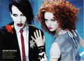 Lily and Marilyn Manson