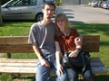 Mario and Vanessa on bench - maressa photo