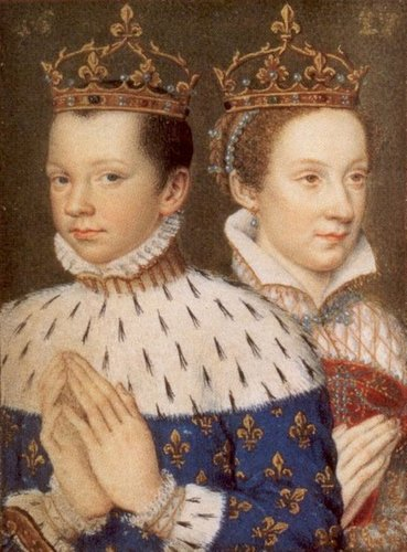 Kings and Queens wallpaper called Mary Queen of Scots and Francis II of France