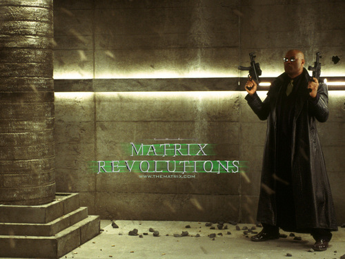 Matrix Revolutions kertas dinding