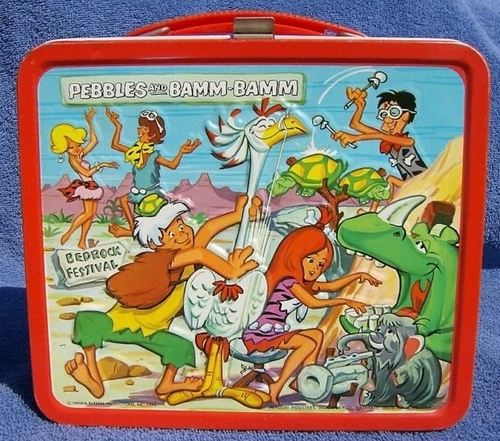 Lunch Boxes wallpaper possibly with anime titled Pebbles and Bamm Bamm Vintage 1971 Lunch Box