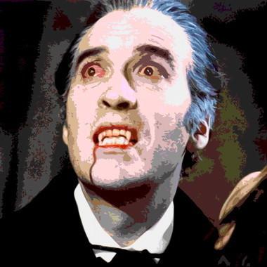 Pop art canvas of Dracula