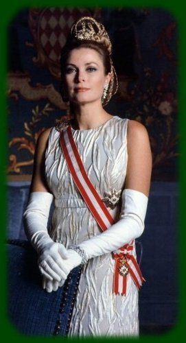 Kings and Queens wallpaper probably with a sign, a tabard, and a top titled Princess Grace of Monaco